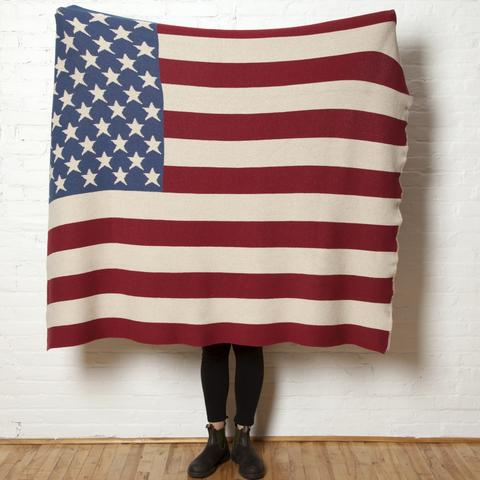 Vintage American Flag Throw - $195Packed with patriotic pride, this eco-conscious gift celebrates our