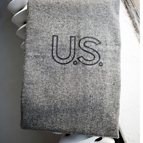 U.S. Navy Military Throw - $175Foot soldier military wool throw blanket in grey with black: U.S. Navy.Twin 66