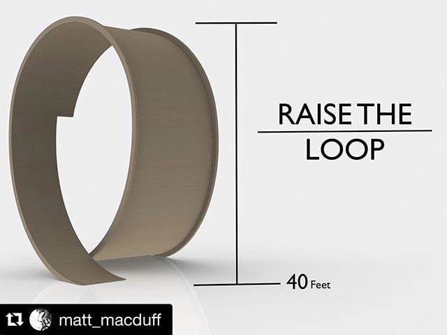 Stoked about @matt_macduff new Raise The Loop project. Can't wait to see him shred that Loop de Loop of Doom. ・・・ Just launched a new project and I need your help💪🙏🏻✊🏻 Im going to build the worlds biggest loop de loop and ride it on my bike 👍