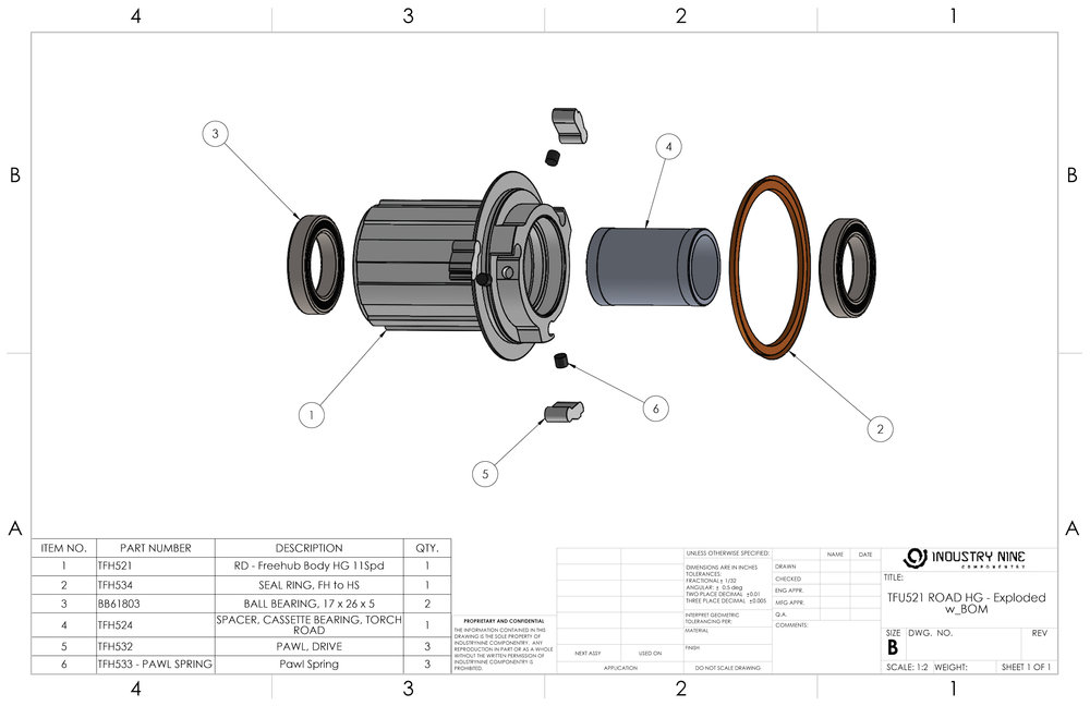 Industry nine componentry torch road freehub body exploded service guide ccuart Choice Image