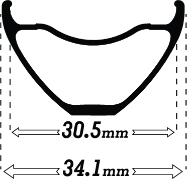 Black Enduro305 rimwidth icon