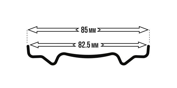 BigRig 825 PillarCarbon rimwidth icon