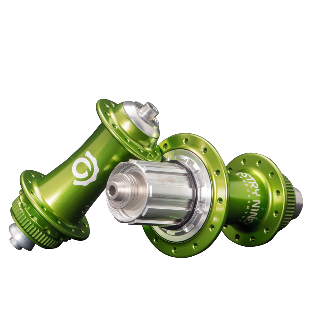 Torch Classic Road Hub - Lime Green - On Black.png