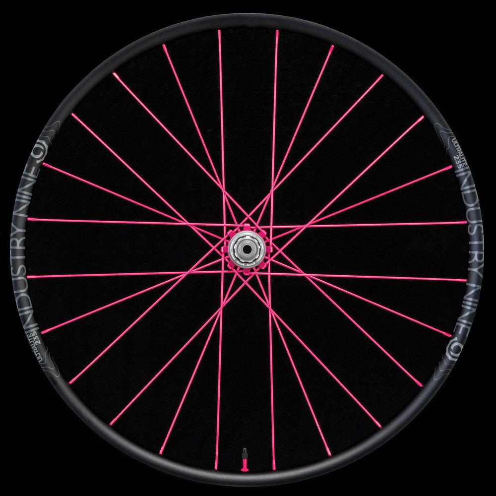 UltraLight235 - 275 - TRA System - Pink Build - On Black - Rear Wheel_WEB.JPG