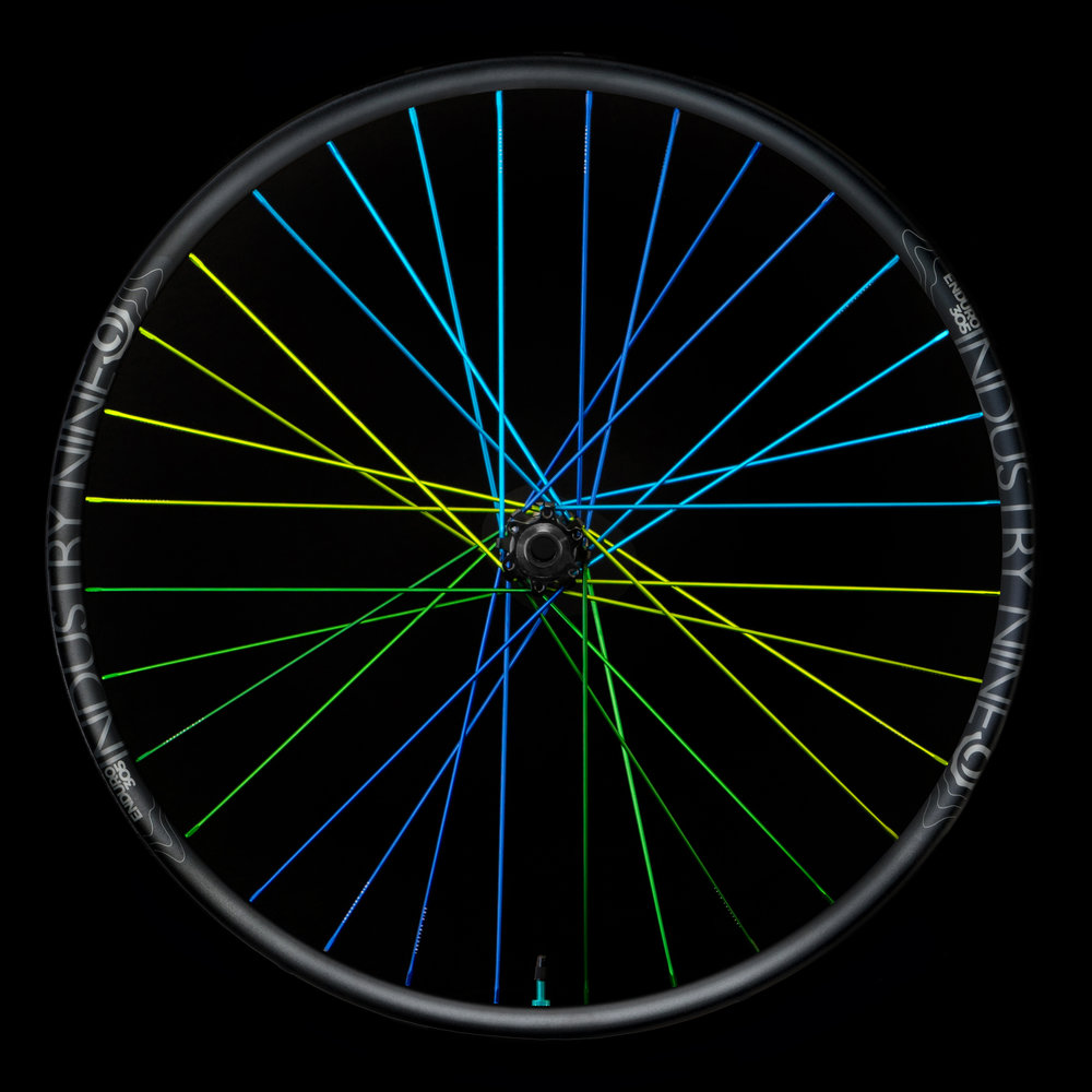Enduro305 - Rainbow - Black Background -Rear Wheel.JPG