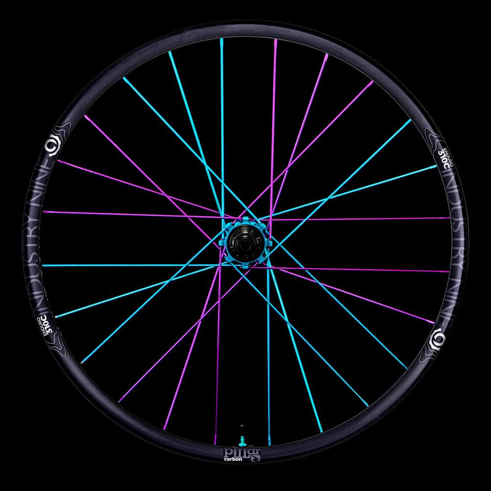 Enduro310C - Purple Turquoise -Black Background - Rear Wheel_WEB.JPG