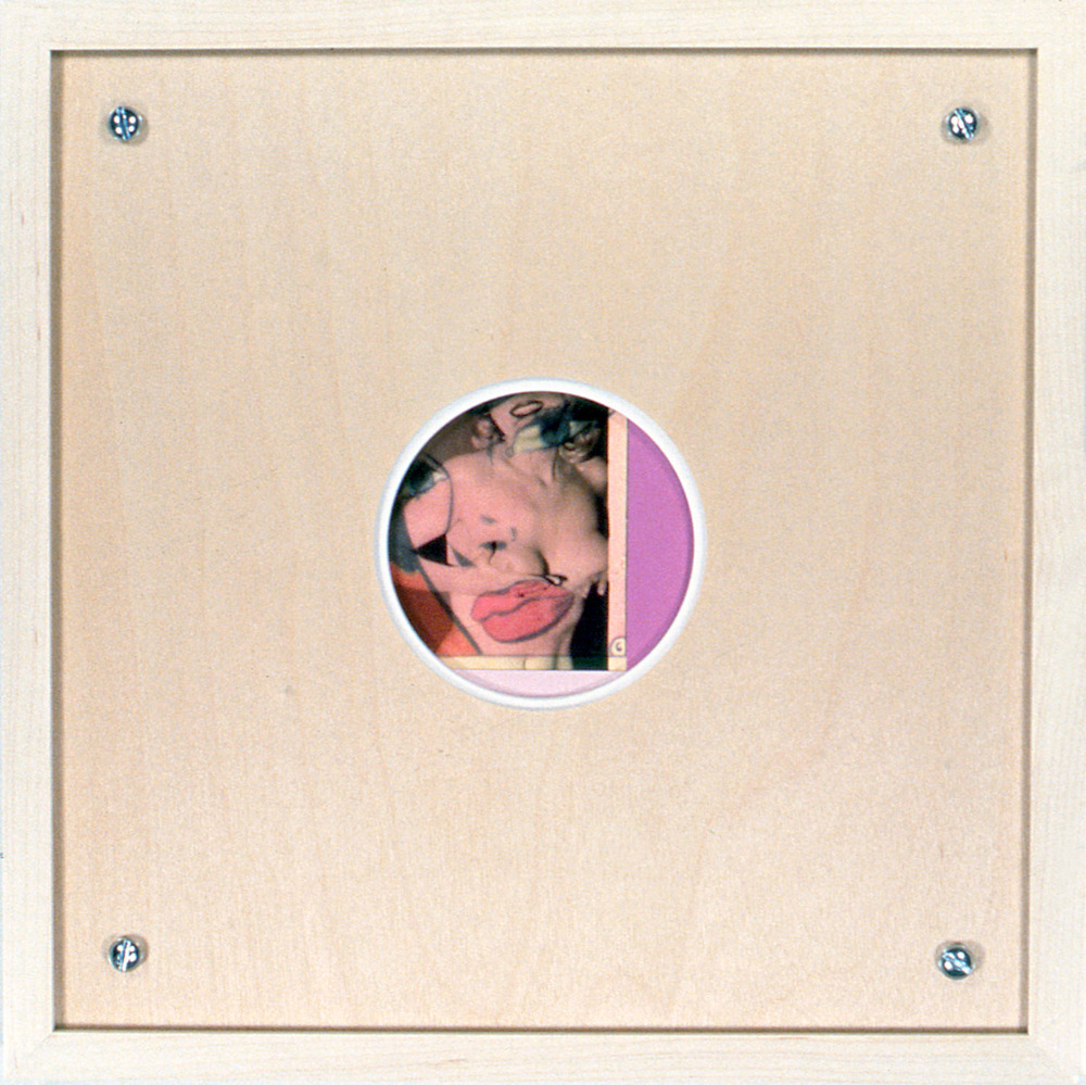 "Peephole 18 , 1996, 10 1/2 x 10 1/2"", mixed media with frame."