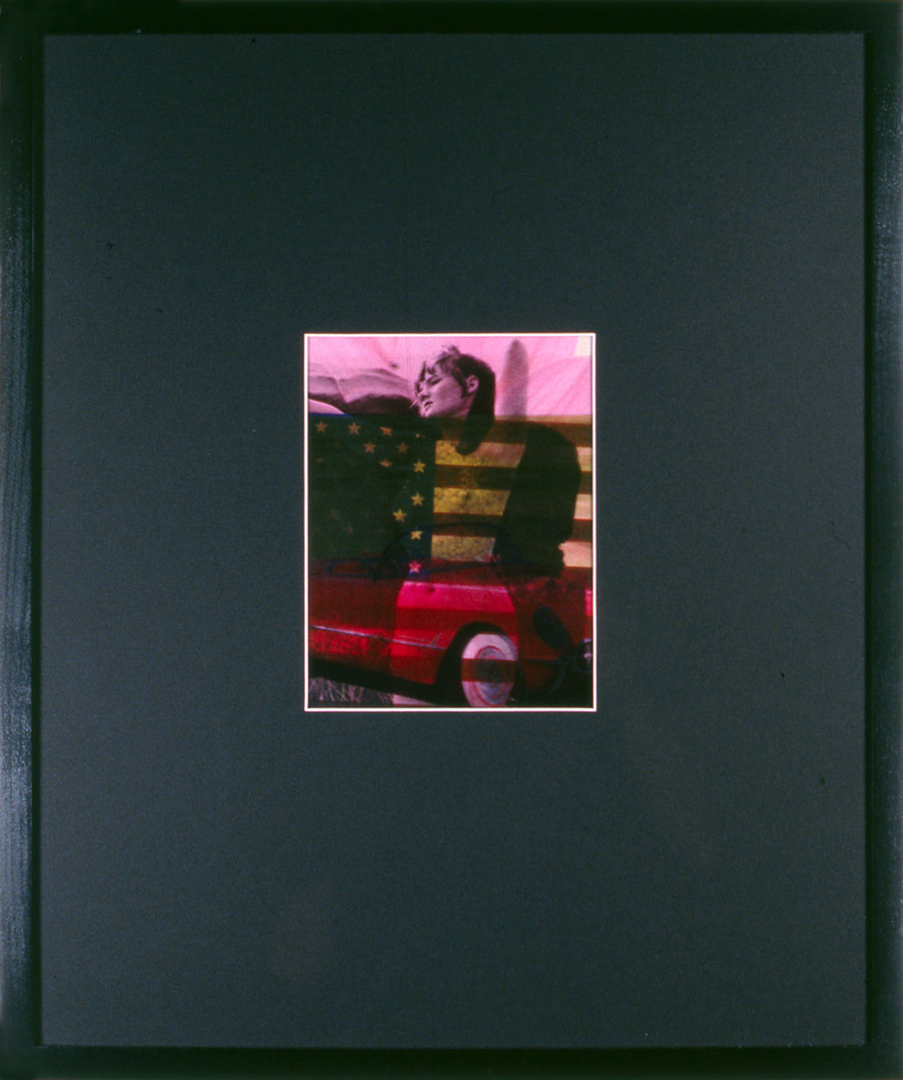 "Woman As Object 4 , 1995, 17 1/4 x 14 1/2"", mixed media with frame."