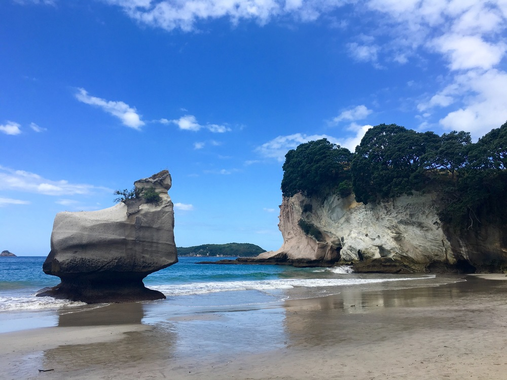 beach near cathedral cove