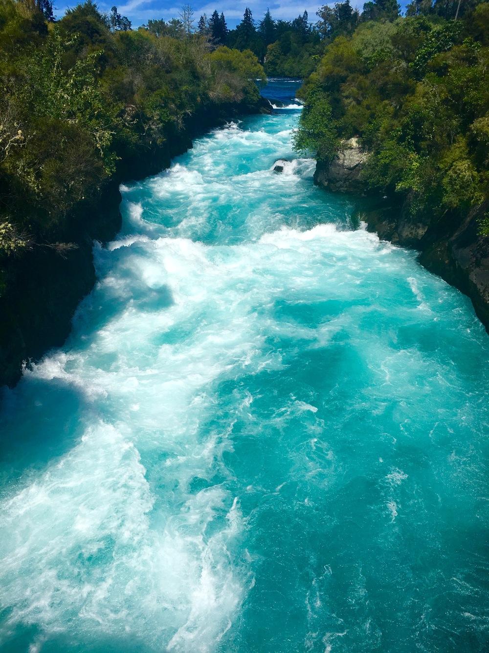 "huka falls; ""huka"" meaning ""foam"""
