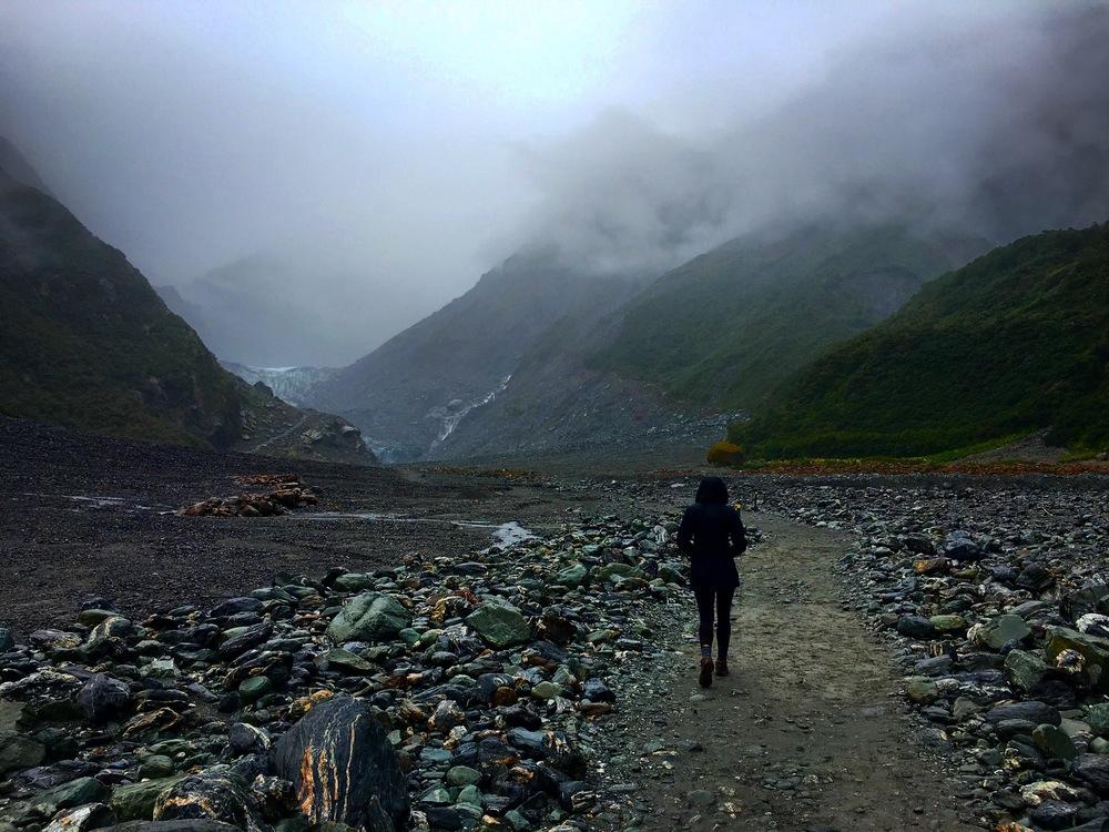 glacier tramping