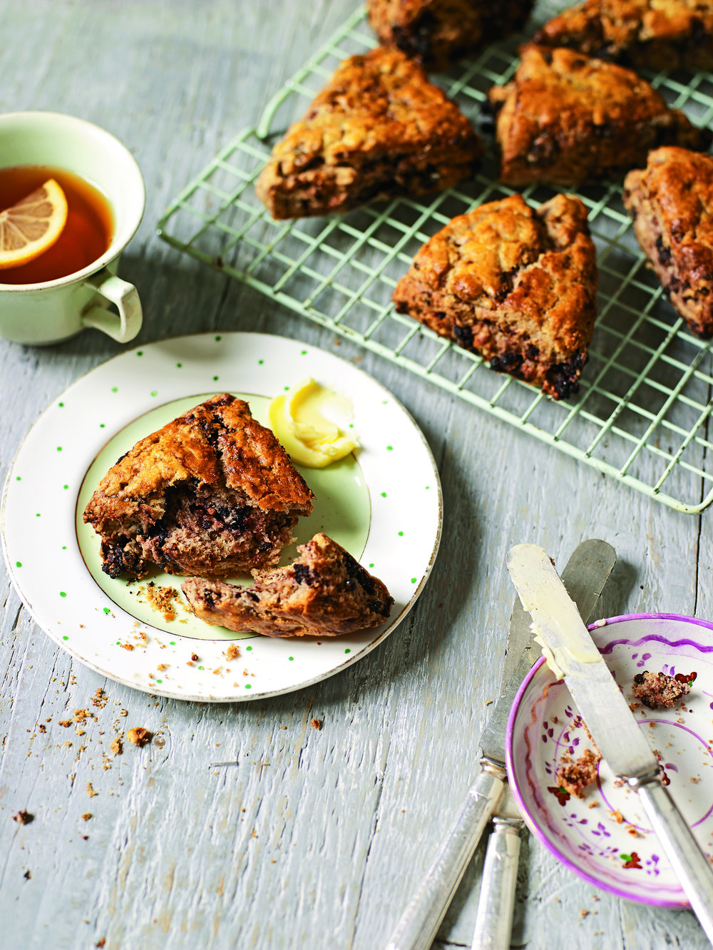 Mulberry Spelt Scones - Because the word scones in the USA and the word scones in the UK mean different things…