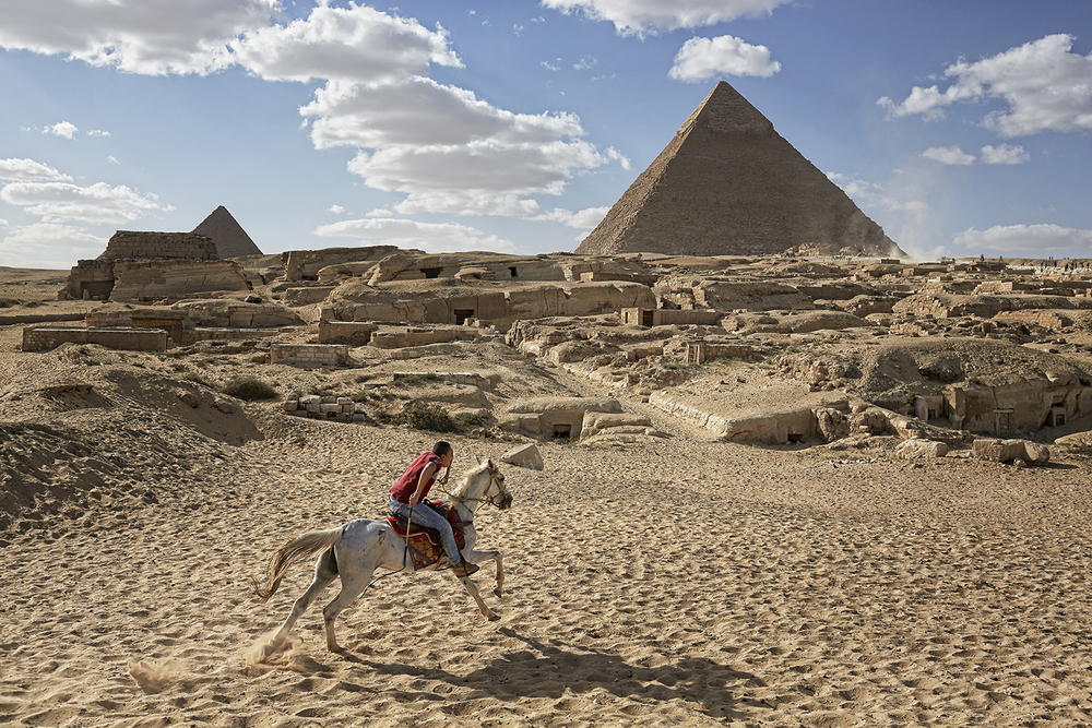 Young Rider_Great Pyramids_Giza,Egypt_RTBP_Photograph By David Zickl_602.751.6333