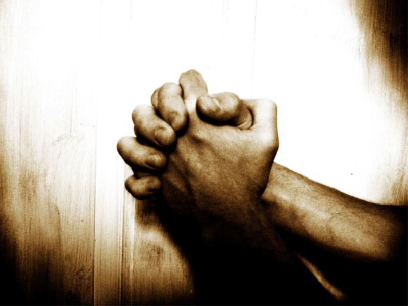 asking and receiving hands in prayer with dark and light