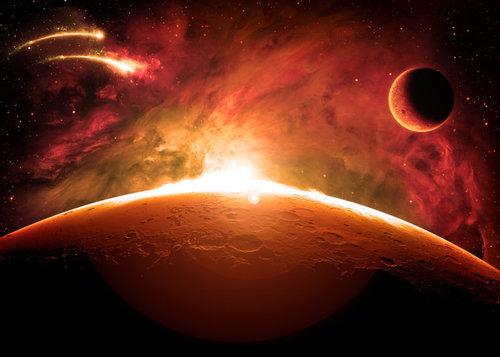 mars saturn heat flames