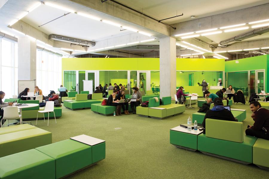 Ryerson University Student Learning Centre | Photo credit:Lorne Bridgeman via Canadian Architect