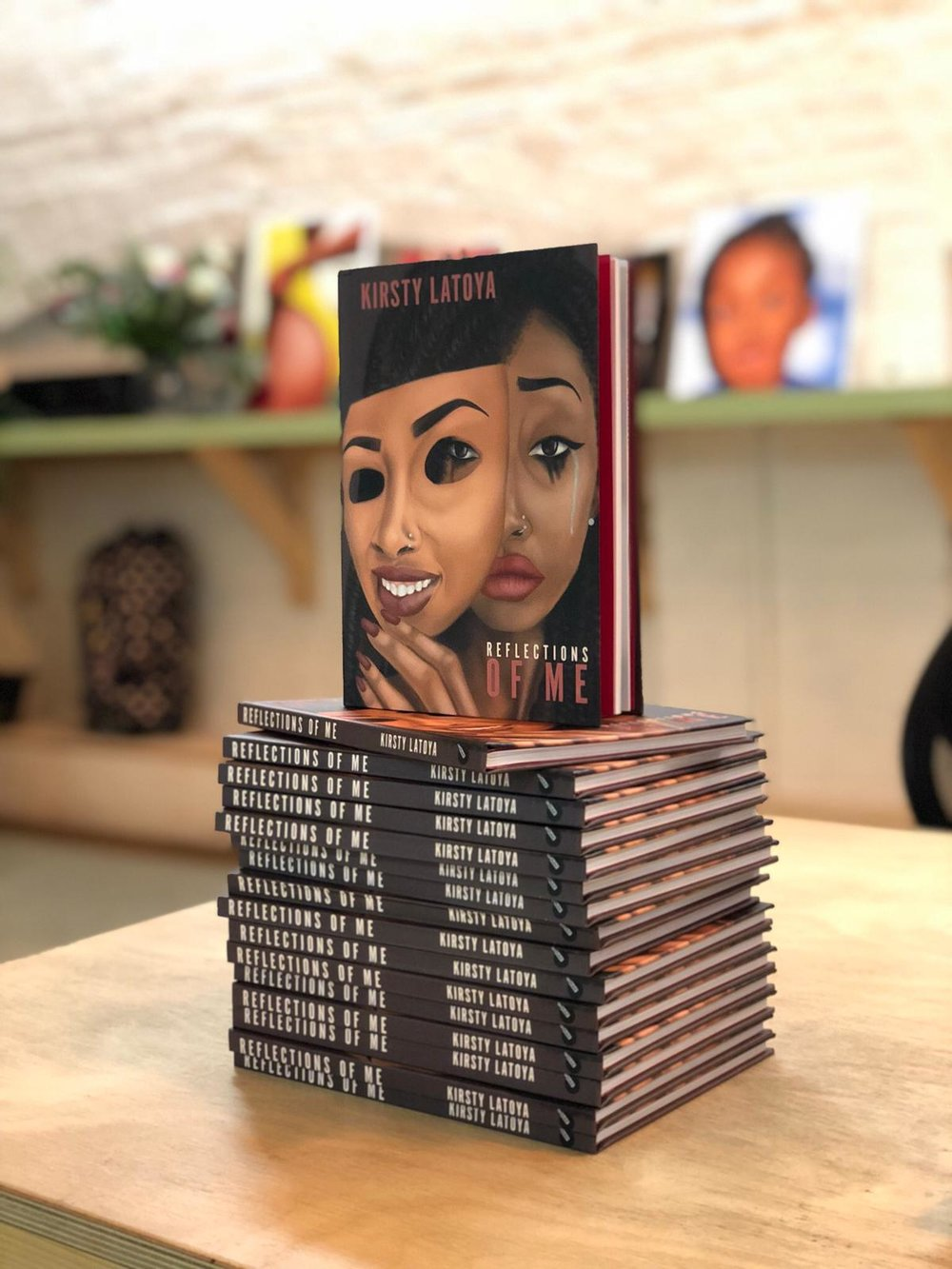 Reflections Of Me - My NEW book is finally here! The book is available in all good book retailers, as well as eBay and Amazon. You can also buy directly from my publishers hereReflections of Me is an art and poetry book by 27-year-old emerging artist Kirsty Latoya, from South London. The book will be made up of four sections – mental health, identity, womanhood and love. The images are accompanied by original poems from the artist.