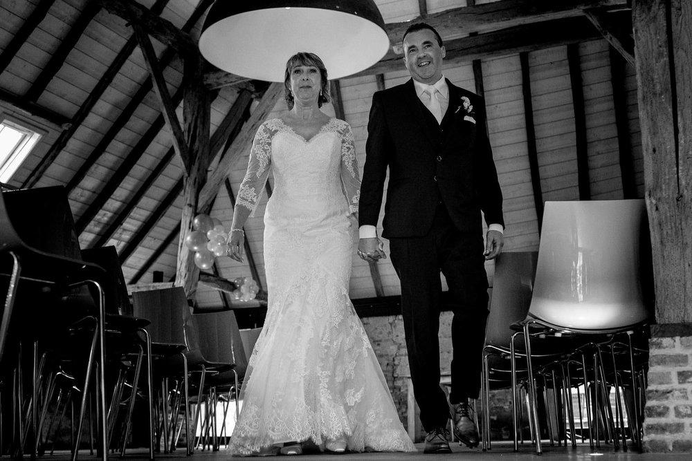 Ceremonie bruidspaar getrouwd