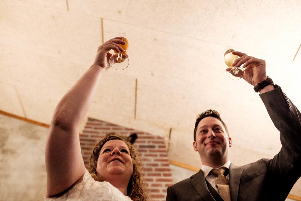 Toost op het bruidspaar Lage Mierden
