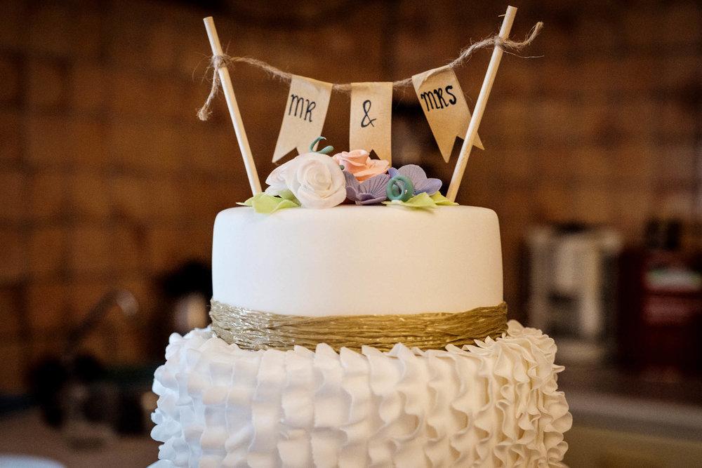 Bruidstaart bloemen gendercake