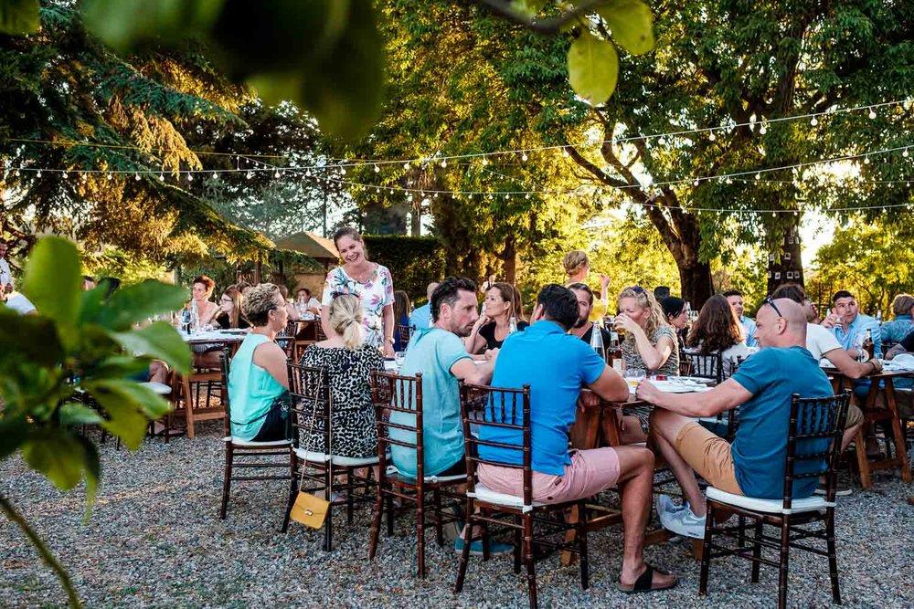 Bruidsfotograaf Toscane Italië diner
