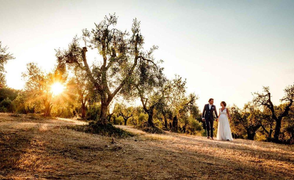 Bruidsfotograaf Toscane Italië sunset photoshoot