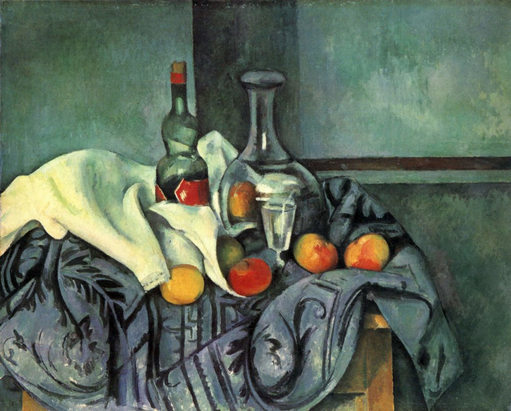 Still life, peppermint bottle, 1895 - Paul Cezanne