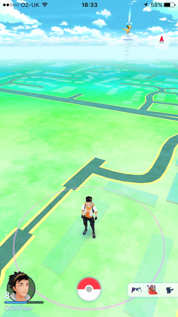 Pokémon Go Map screen