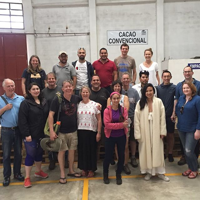 We were so thrilled to welcome this amazing group of chocolate makers to the @cacao_verapaz warehouse and offices today! We're kicking of #chocolateweek with liquor tastings from 5 origins from #Guatemala, #lachua, #chivite, #montegrande #chimelb and #adioesmac. Let the cacaoventures begin! #transparenttrade #realpartnerships #knowyourfarmer #qualityfirst #specialtycacao
