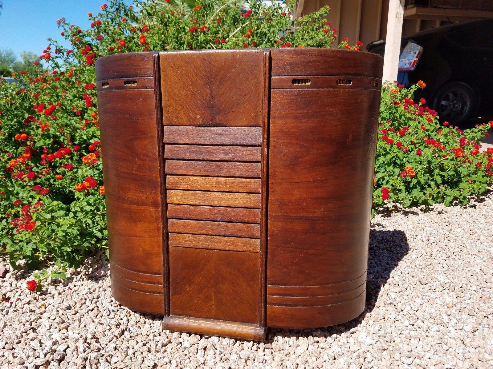 Packard Bell 46 DK Antique Radio Cabinet Now Guitar Amp Speaker Halfler Red  Head