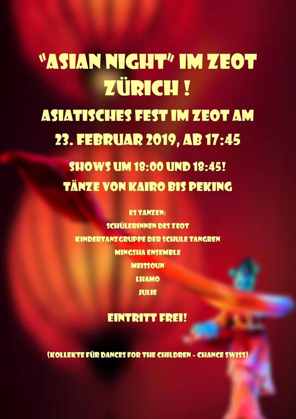 Asiatisches fest Zurich