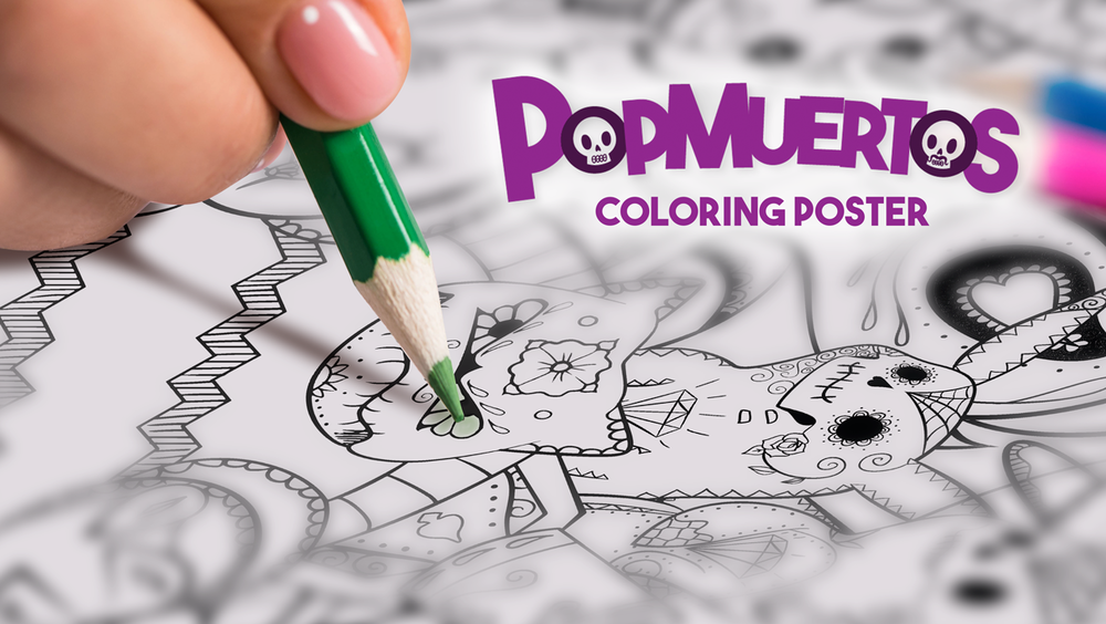 "Introducing the PopMuertos Coloring Poster Kickstarter! These 18""x24"" coloring posters will become a beautiful work of art to display in your home! Imagine- every single Gen 1 Pokemon in our unique Day of The Dead style, designed just the way you like it."