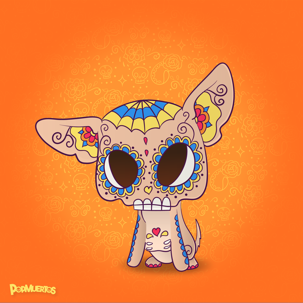 Chihuahua PopMuerto - Day of the Dead
