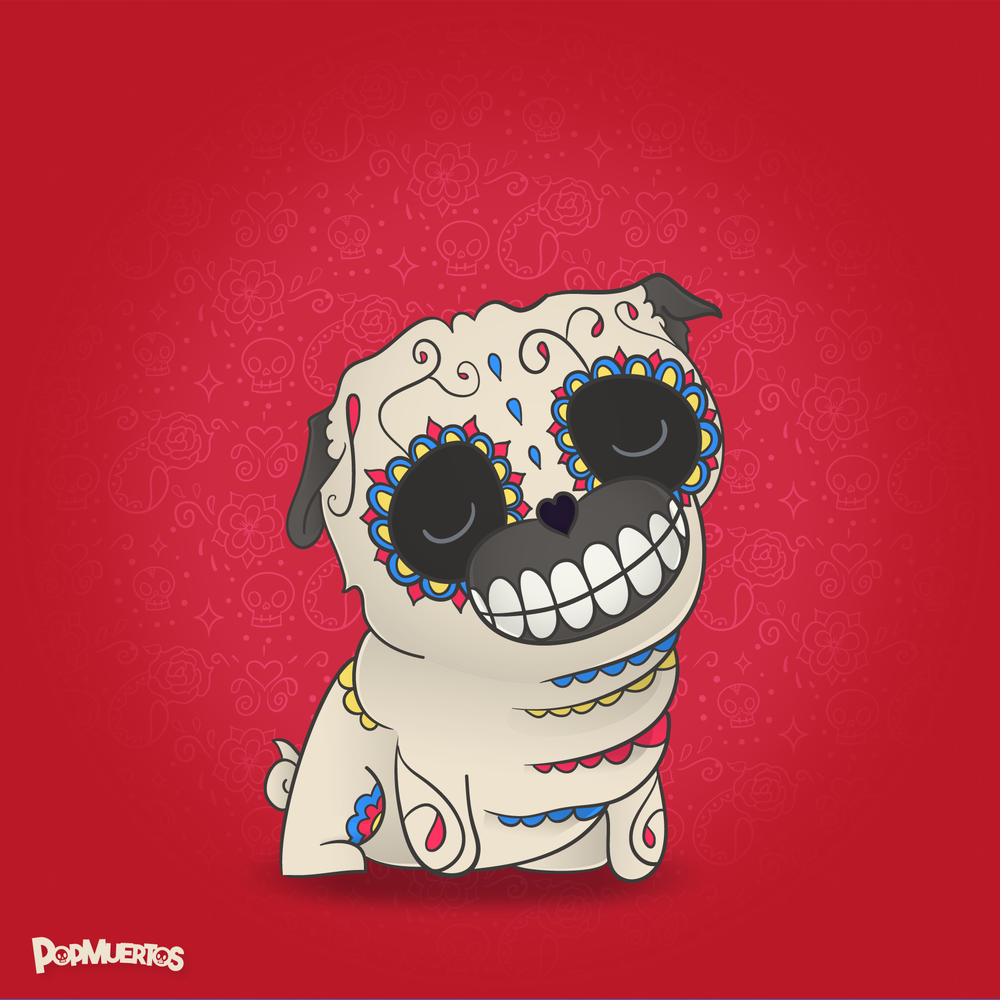 Pug PopMuerto - Day of the Dead