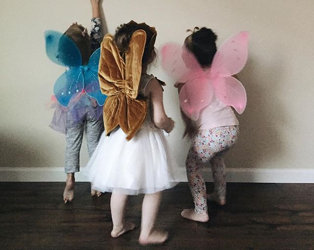 Cute little wings on cute little girls