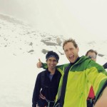 Nabig and his mentor, Max, hiking in Switzerland