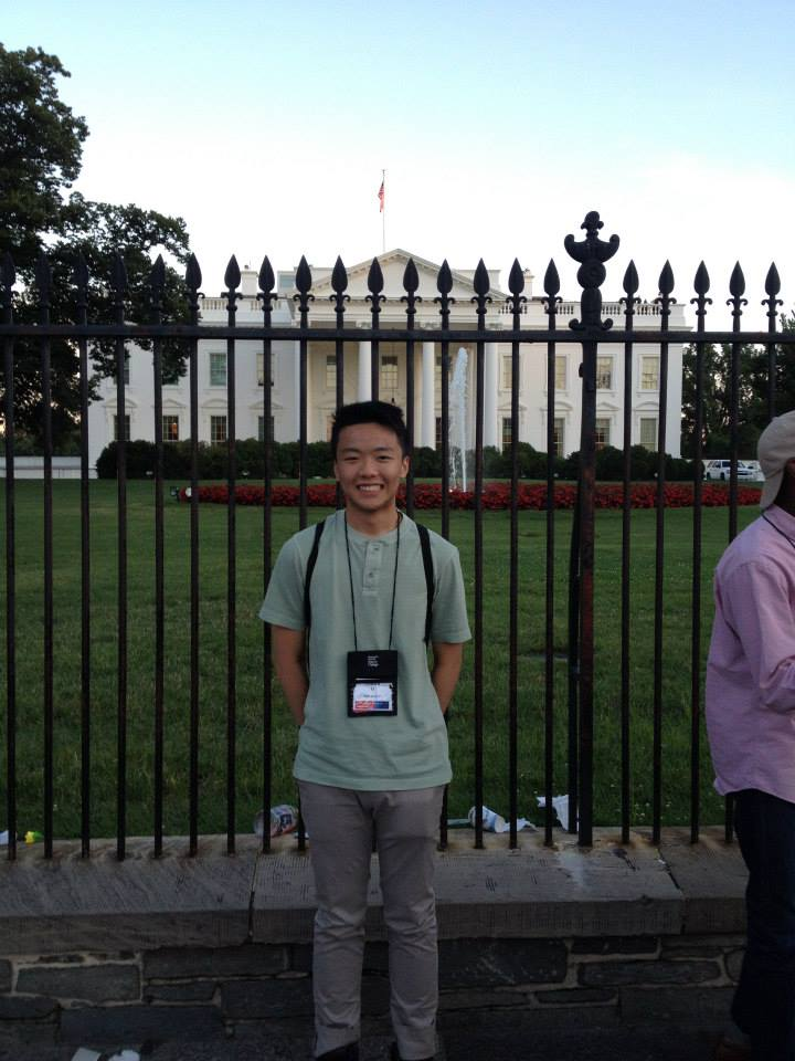 Edward in Washington, D.C. visiting the White House