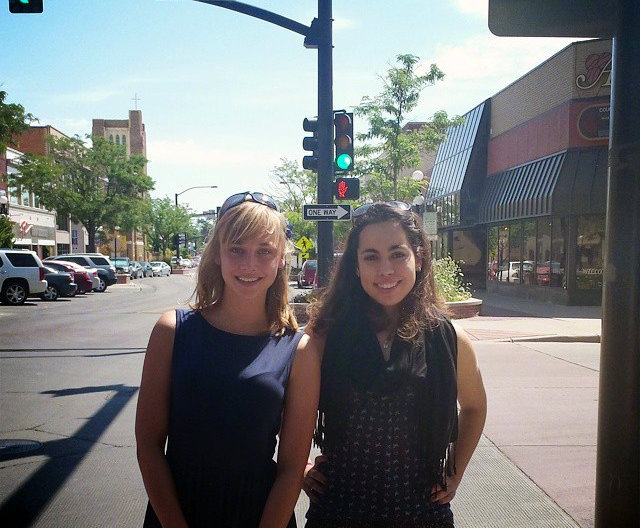 Louise at the FGL Leadership Training in Wyoming with Emma Jagu (2014 FGL Fellow)