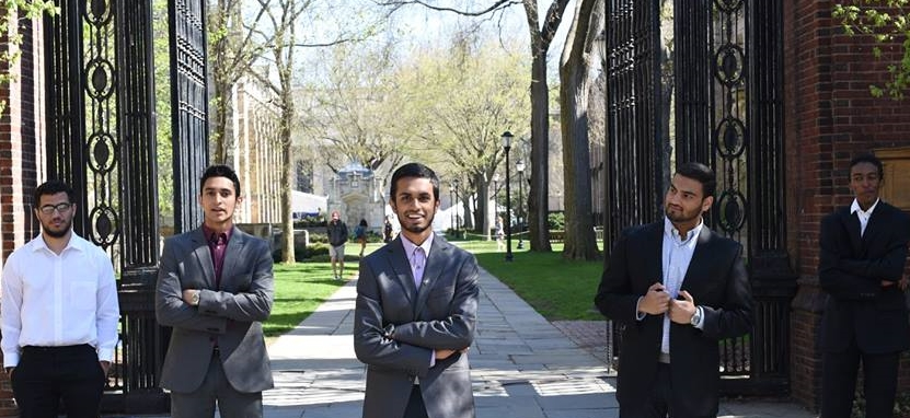 Zeshan (middle) with colleagues from Yale University's Muslim Student Association.