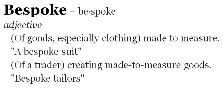 Bespoke Defintion