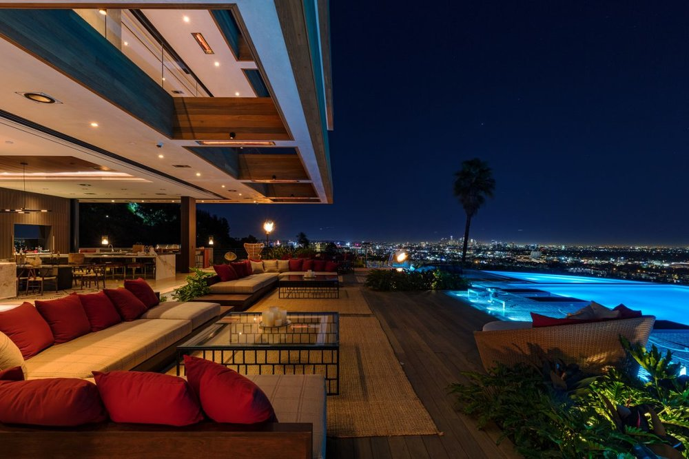Robb Report - $38 Million Los Angeles Home (With Interiors by Lenny Kravitz) Is an Entertainer's Dream