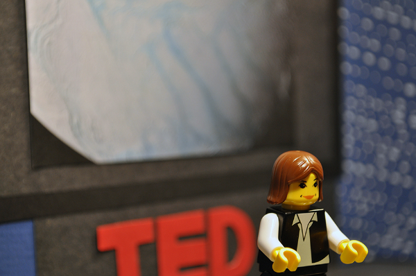 Maia's first Lego minfigurine was of based on planetary scientist Carolyn Porco and her TED talk about Saturn.