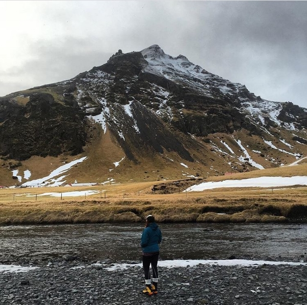 Kati on an adventure in Iceland