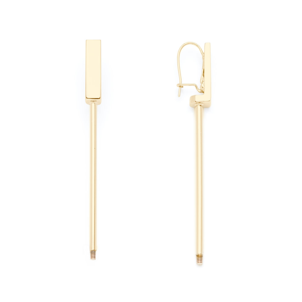 LONG EARRING GOLD FINISH