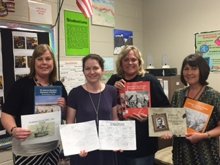 These teachers went together to write for the Choices program, an inquiry-based approach to real world issues in social studies.