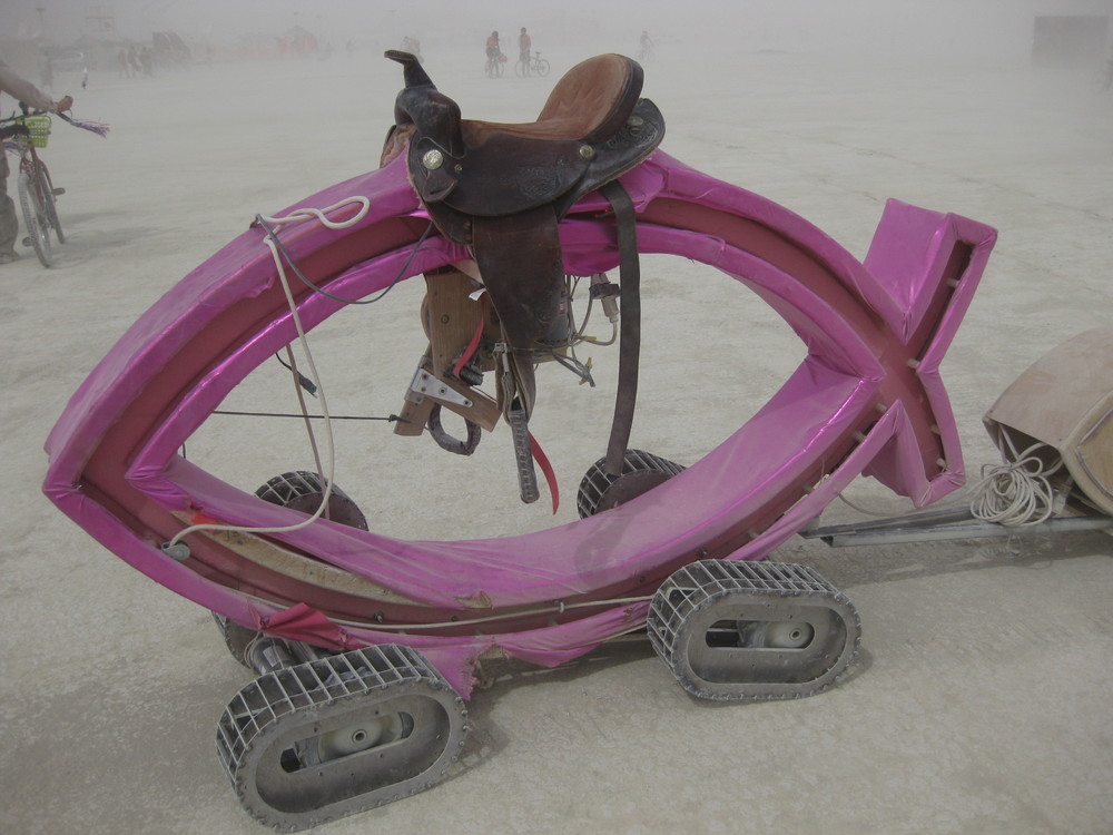 This looks super fun, doesn't it? Apparently, from the little digging I did on the photo's source, it's a product of Burning Man (which could be totally inaccurate), which does NOT sound like fun to me, because I'm lame, like the indoors, prefer quiet, and for my experiences to be LSD-free.  (Photo Credit: https://www.flickr.com/photos/oaklandearthgirl/)