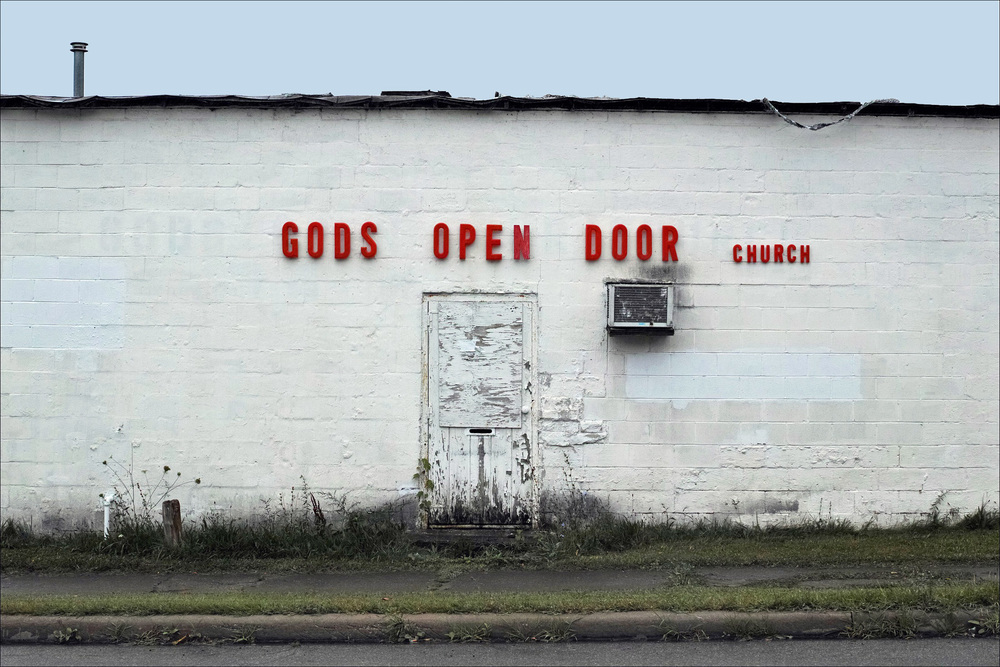 The irony of this image is exactly how Atheists feel about organized religion, all captured in one perfect shot (with a lovely grammatical error included). Well, also this looks like the kind of church that you might get murdered in (which is not how we generally feel about religion).  Photo Credit: Tom Hart (https://www.flickr.com/photos/thart2009/)