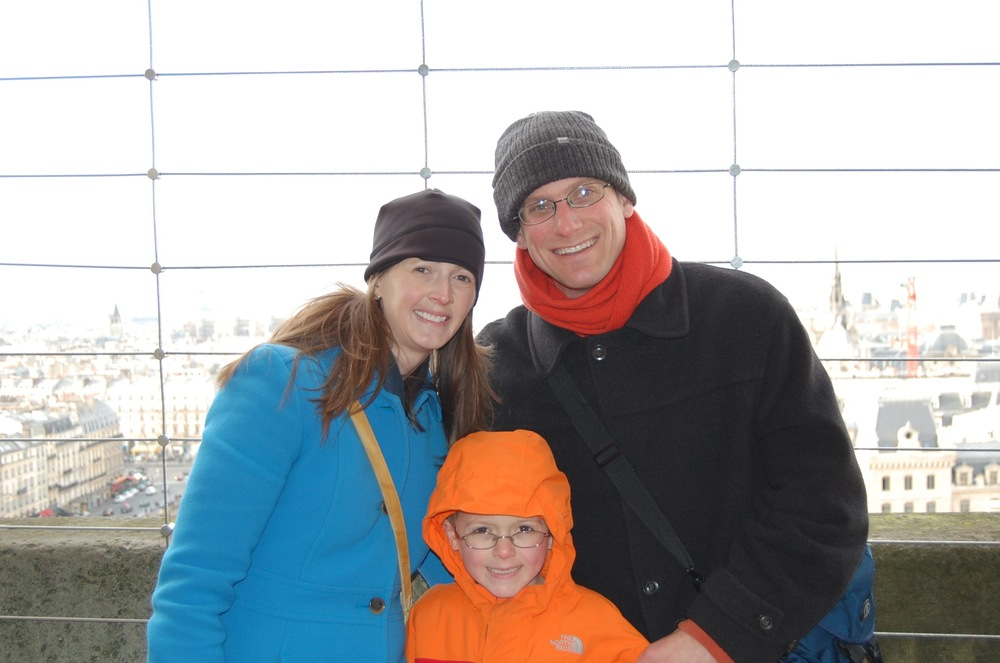 My little family, on top of Notre Dame this Christmas. My husband and I went to Paris for our honeymoon, and I went to Paris, for the first time, in high school. Paris is a special place and I know the French are strong. They'll recover. I just hope Americans can help.