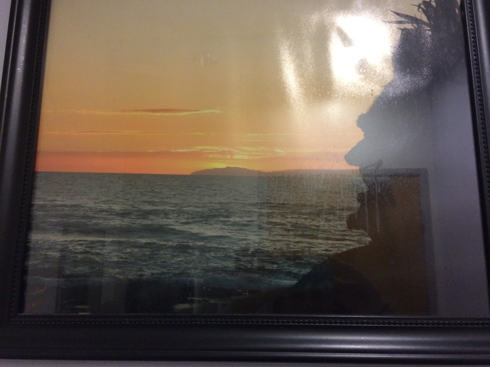 This is a HORRIBLE picture, but it's from the bathroom of my pain management doc's office. Tell me that the side of this cliff doesn't look like Honest Abe? Right? Right? He endorses and agrees with everything I say. Always. Even when it's rambling and incoherent, like below.