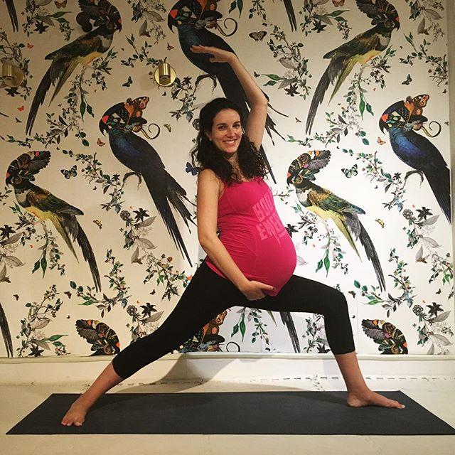 Congrats Pilar & Yago 💕    Fast forward 7 weeks . . . #prentalyoga #babyandmeyoga #lovechildyoga #prenatalfitness #yogapregnancy #pregnantyoga #baby #bump #postnatalyoga #nyc #beforeafter #holisticparenting #westvillage